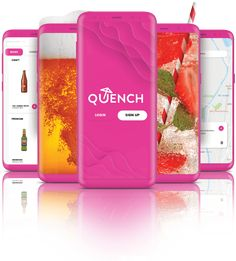 Quench - Alcohol delivery app Delivery App, Design Development, Alcohol, Crafts, Rubbing Alcohol, Manualidades, Handmade Crafts, Craft, Arts And Crafts