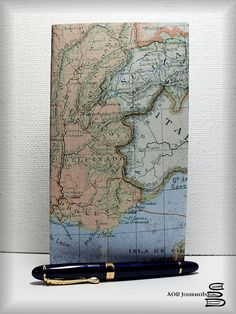 Vintage Map Cover Collection; Midori or Fauxdori Traveler's Notebook Insert  60 Insert Choices 8 Traveler's Notebook Sizes #84 by AORJournals from AOR Journals by Ann. Find it now at http://ift.tt/2a9uieF!