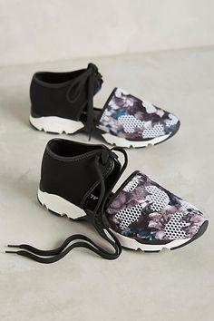 All Black Mesh Sneakers