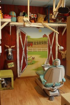 dental office theme, pediatric dental office ideas, operatory by Aaron Christensen