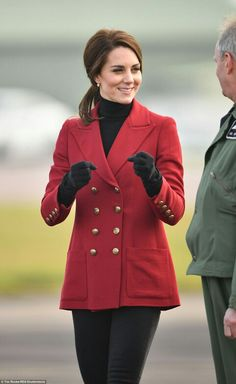 Catherine Duchess of Cambridge at RAF Wittering. February 14 2017