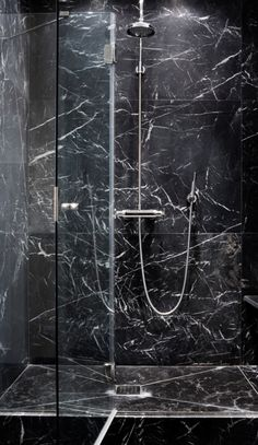 [ Tile Bathroom Black Marble Subway And White Decorating Ideas Pictures ] - Best Free Home Design Idea & Inspiration Black Marble Tile, Black Marble Bathroom, Stone Bathroom, Marble Bathrooms, Marble Tiles, Master Bathroom, Dream Bathrooms, Beautiful Bathrooms, Bidet Wc