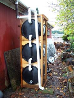 "Discover more information on ""rainwater harvesting diy"". Visit our internet site. Discover more information on ""rainwater harvesting diy"". Visit our internet site. Outdoor Projects, Garden Projects, Outdoor Decor, Rain Barrel System, Water Catchment, Water Barrel, Water From Air, Water Collection, Ideas Hogar"