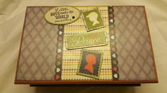 "Altered Wood box "" Darling Boy""  baby theme. by EnchantedGiftss on Etsy"