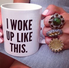 Making mornings look good with Stephen Dweck jewelry.
