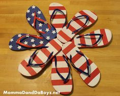 Star Spangled Flip Flop Wreath