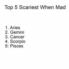 Top 5 Scariest when Mad...