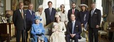 Prince George Christening. Queen Elizabeth along with the 3 future kings of England :) <3