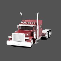 3D Patrol Truck Peter Bilt - 3D Model