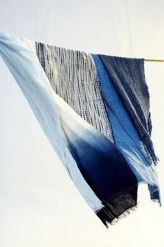 bleu blue drap tie and dye