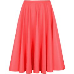 Ted Baker ROSIAH Full ballet skirt (8.000 RUB) ❤ liked on Polyvore featuring skirts, bottoms, coral, red skirt, ballet skirt, midi skirt, ted baker skirt and mid calf skirts