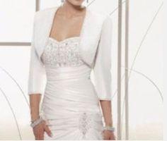 >> Click to Buy << Free Shipping Wedding Jacket 3/4 Sleeve Beaded Bridal Jacket Satin Wedding Wrap Bolero 2017 #Affiliate