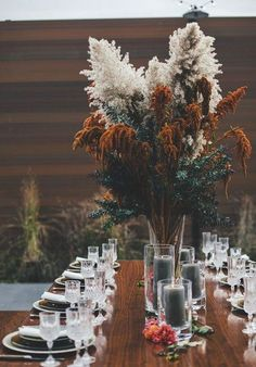 Gorgeous dark toned tablescape for fall and winter