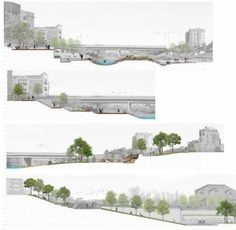 Landscape Architecture Section, Plans Architecture, Landscape Model, Architecture Graphics, Landscape Plans, Urban Landscape, Landscape Design, Landscape Architects, Site Analysis Architecture