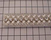 6 YARDS Ivory Beaded Pearl AND Crystal Trim - NEW 2015