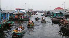 Mechrey floating village, siem reap, cambodia