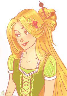 Rapunzel. by viria13.deviantart.com on @deviantART