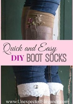No Sew DIY Cuffs | DIY Boot Cuff Ideas to Dress Up Your Winter Look