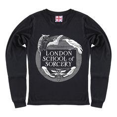 Image of LONDON SORCERY black long sleeve t-shirt