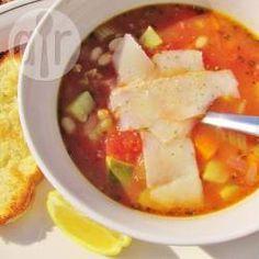 Gemüsesuppe mit Farro und Kichererbsen @ de.allrecipes.com