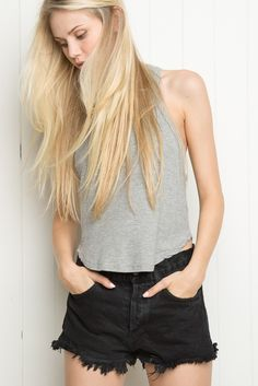 Brandy ♥ Melville | High-Rise Denim Shorts - Bottoms - Clothing