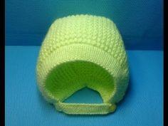 Вязание спицами детская шапочка-чепчик#146 - YouTube