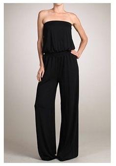 7128a1877392 Strapless Jumpsuit Black Strapless Jumpsuit