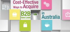 Generating high quality B2B sales leads is top priority among solutions providers in Australia. From financial services to health care, companies in the Land Down Under are constantly seeking to improve acquisition of high level prospects. Efficiency in these areas can be obtained through a combination of wise strategizing, up-to-date lead management infrastructure, and a dedicated team of marketing and sales staff. But in terms of maximizing expenses, these practical options come to mind.