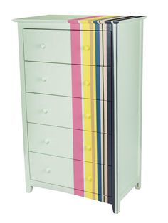 Dresser Painted With Cheerful Stripes