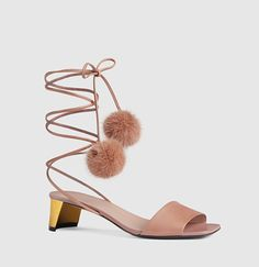 Gucci - Heloise Leather Sandal 400088DKH405725