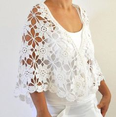 Crochet Shawl Weddings Shawl White Mohair by reflectionsbyds Crochet Blouse, Crochet Shawl, Crochet Yarn, Easy Crochet, Crochet Top, Crochet Flowers, Bridal Shawl, Wedding Shawl, Baby Knitting Patterns
