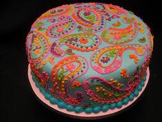 Gorgeous Cakes, Pretty Cakes, Cute Cakes, Amazing Cakes, Paisley Cake, Henna Cake, Fancy Cakes, Creative Cakes, Let Them Eat Cake