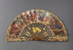 Italian Folding fan mid 18th century