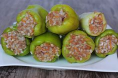 Plnená paprika - Powered by Eggplant, Zucchini, Sushi, Stuffed Peppers, Vegetables, Ethnic Recipes, Russian Recipes, Polish, Drinks