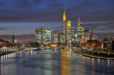skyline of Frankfurt-Main, Germany