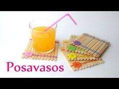 Manualidades: POSAVASOS estilo JAPONES con palitos/paletas de helado - DIY Innova Manualidades - YouTube