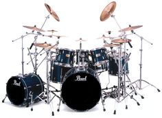 """My Equipment... Pearl Session Custom (Maple) SRX925 in """"Dusk Blue""""  Bass Drum - 18"""" x 22"""" Toms - 8"""" x 10""""             9"""" x 12""""           12"""" x 14"""" Snare - 5.5"""" x 14"""""""