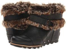 SOREL - Joan Of Arctic Wedge Ankle (Black) - Footwear on shopstyle.com