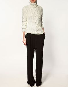 Polo & black pants