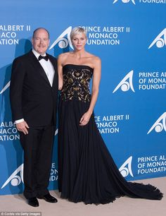 Still in love! Charlene cosies up to husband Prince Albert as they led the glamorous arrivals at the 'Monte-Carlo Gala For The Global Ocean' event on Thursday evening