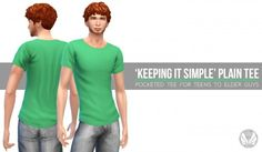 Simsational designs: 'Keep It Simple' Plain Tee • Sims 4 Downloads