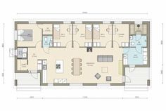 Kastelli - Ready 137/157 Bungalow House Plans, Own Home, Floor Plans, Layout, Flooring, How To Plan, Architecture, Beach Cottages, Houses