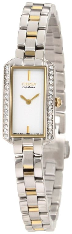 Citizen Womens EG2784-58A Eco-Drive Silhouette Crystal Watch