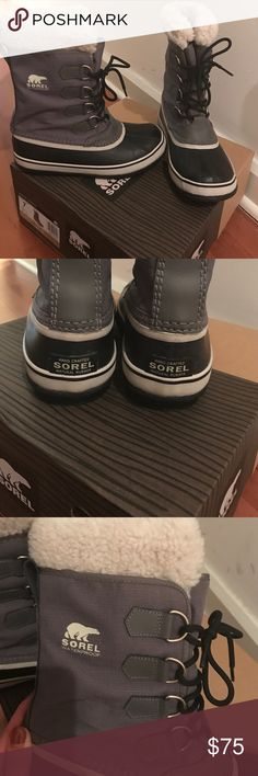 Sorel Winter Carnival Boot Sorel Winter Carnival Boot. Size 7, Pewter color. Only worn twice. Perfect cozy boot for winter weather. Price is firm! Sorel Shoes Winter & Rain Boots