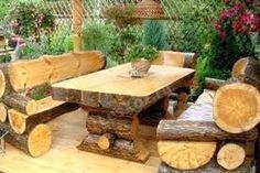 Картинки по запросу столы и скамьи из бревен