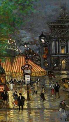 Aesthetic Painting, Aesthetic Art, Arte Van Gogh, Paris Painting, Paris Art, Classic Paintings, Painting Wallpaper, Famous Art, Classical Art