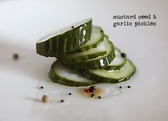 I love making pickles! These ones are fast and simple: Mustard Seed and Garlic Pickles.