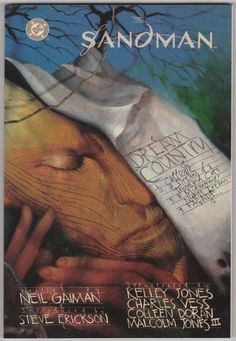 The Sandman: Dream Country by Neil Gaiman and Kelley Jones, Charles Vess, Colleen Doran, and Malcolm Jones III. Softback, As New/NM, 1991, Second Printing, DC Comics, size 6 5/8 x 10 1/8 inches, 160 pages, O/P edition. Book 3 in the series collecting issues #17 - 20, including covers, of The Sandman comic book. $20