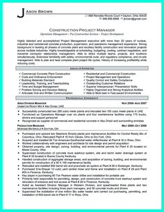 construction manager resume can be designed for a professional construction manager either experienced or not