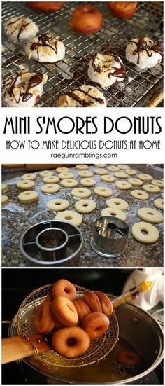 S'mores Mini Donut Recipe the best mini donut recipe I've found super easy and tasty for dessert or breakfast Mini Desserts, Desserts To Make, Dessert Recipes, Famous Desserts, Jello Desserts, Lemon Desserts, Cake Recipes, Best Mini Donut Recipe, Mini Donut Recipes